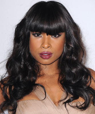 """18"""" Wavy With Bangs Wigs For African American Women The Same As The Hairstyle In The Picture"""