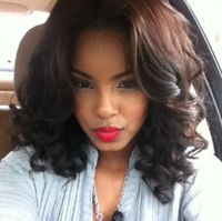 "14"" Wavy Wigs Lace Front Wigs 100% Human Hair Wigs The Same As The Hairstyle In Picture"