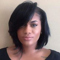"""10"""" Bob Wigs For African American Women The Same As The Hairstyle In The Picture"""