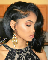 """12"""" Bob Wigs For African American Women The Same As The Hairstyle In The Picture"""