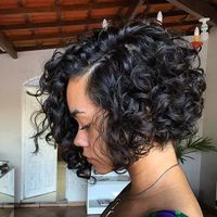 """12"""" Curly Wigs For African American Women The Same As The Hairstyle In The Picture"""