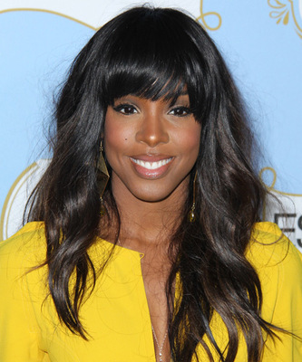 """20"""" Wavy With Bangs Wigs For African American Women The Same As The Hairstyle In The Picture"""