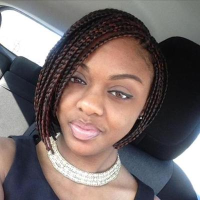 """10"""" Braided Bob Wigs Lace Front Wigs For Women The Same As The Hairstyle In The Picture"""