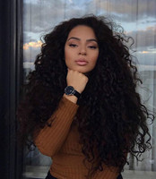 "24"" Curly Long Wigs For African American Women The Same As The Hairstyle In The Picture"