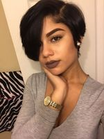 "10"" Short Wigs For African American Women The Same As The Hairstyle In The Picture"
