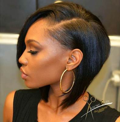 "12"" Medium Wigs For African American Women The Same As The Hairstyle In The Picture"
