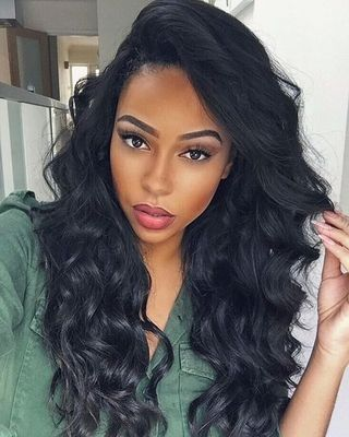 """24"""" Wavy Long Wigs For African American Women The Same As The Hairstyle In The Picture"""