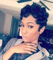 "6"" Short Curly Wigs For African American Women The Same As The Hairstyle In The Picture"