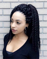 "18"" Braid Wigs Lace Front Wigs 100% Human Hair Wigs The Same As The Hairstyle In The Picture"