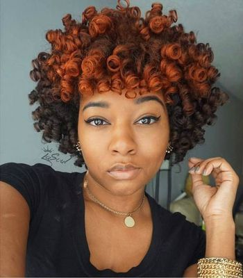 "10"" Curly Wigs For African American Women The Same As The Hairstyle In The Picture"