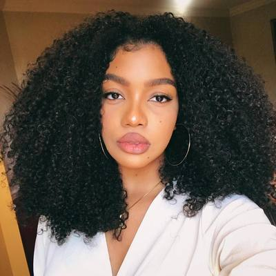 "14"" Curly Wigs For African American Women The Same As The Hairstyle In The Picture"