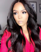 "24"" Wavy Long Lace Front Wigs 100% Human Hair Wigs The Same As The Hairstyle In Picture"