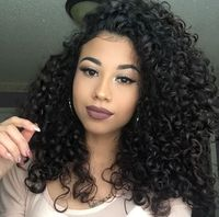 "14"" Kinky Curly Wigs For African American Women The Same As The Hairstyle In The Picture"