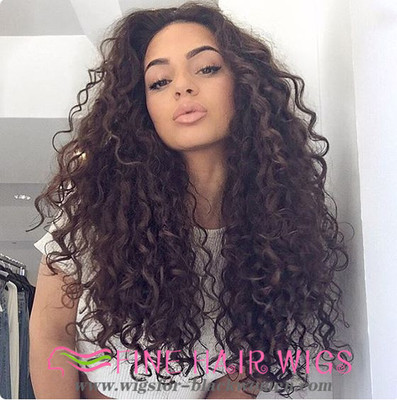 """20"""" Curly Long Wigs For African American Women The Same As The Hairstyle In The Picture"""