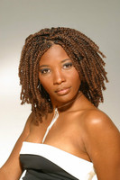 "12"" Braid Wigs Lace Front Wigs 100% Human Hair Wigs The Same As The Hairstyle In The Picture"