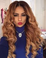 "24"" Wavy Wigs Lace Front Wigs 100% Human Hair Wigs The Same As The Hairstyle In The Picture"