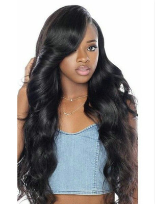 """24"""" Wavy Wigs For African American Women The Same As The Hairstyle In The Picture"""