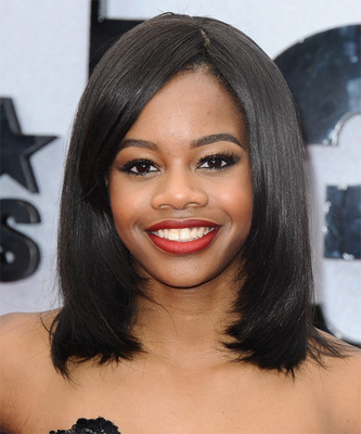 """12"""" Straight Bob Wigs For African American Women The Same As The Hairstyle In The Picture"""