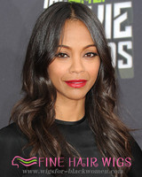 "20"" Wavy Long Wigs For African American Women The Same As The Hairstyle In The Picture"