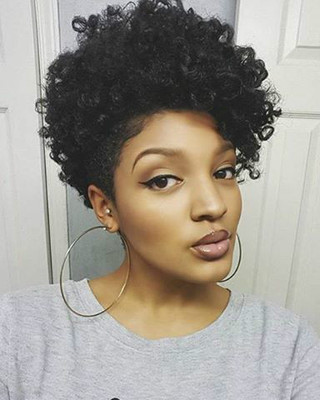 """10"""" Short Curly Wigs For African American Women The Same As The Hairstyle In The Picture"""