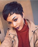 "6"" Short Wigs For African American Women The Same As The Hairstyle In The Picture"