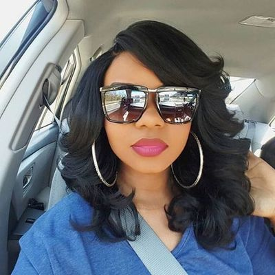 """14"""" Wavy Wigs For African American Women The Same As The Hairstyle In The Picture"""