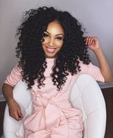 "18"" Kinky Curly Wigs For African American Women The Same As The Hairstyle In The Picture"