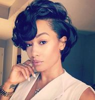 "8"" Short Wigs For African American Women The Same As The Hairstyle In The Picture"