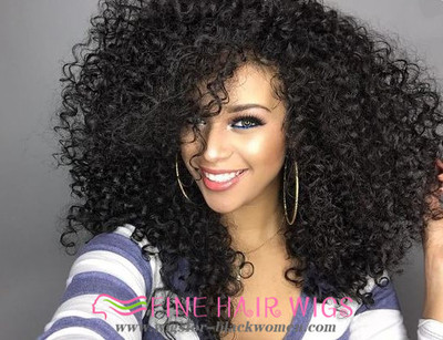 """14"""" Kinky Curly Wigs For African American Women The Same As The Hairstyle In The Picture"""