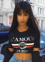 "24"" Straight With Bangs Wigs For African American Women The Same As The Hairstyle In The Picture"