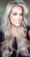 "24"" Wavy Grey Wigs Lace Front Wigs 100% Human Hair Wigs The Same As The Hairstyle In The Picture"