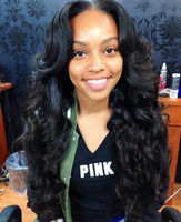 "24"" Wavy Long Wigs Lace Front Wigs 100% Human Hair Wigs The Same As The Hairstyle In The Picture"