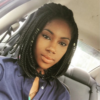 """12"""" Braided Wigs Lace Front Wigs For Women The Same As The Hairstyle In The Picture"""