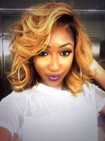 """14"""" Wavy Medium Wigs For African American Women The Same As The Hairstyle In The Picture"""