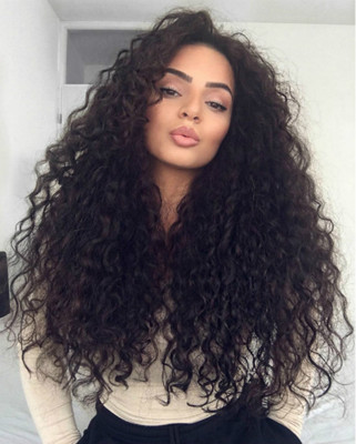 "24"" Curly Wigs For African American Women The Same As The Hairstyle In The Picture"